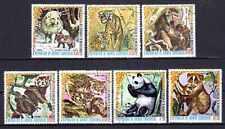 Animaux Faune sauvage Guinée Equatoriale (10) série complète 7 timbres oblitérés
