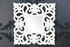 Espejo de Pared Con Acabado Lujoso palaciego Barroco y Rococó blanco NUEVO