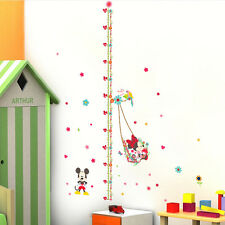 Minnie Mouse Height Chart Measure Wall Sticker Decal Kids Baby Nursery Room Deco