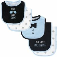 Hudson Baby Bib and Burp Cloth Set 5-Piece, One Cool Dude, One Size