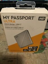 WD 2TB My Passport Ultra for Mac / PC Silver Portable Hard Drive, USB-C + MARVEL