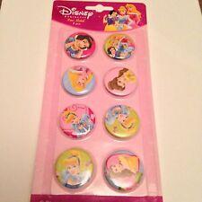 Disney Princess Metal Pins/Badges, Set of 8, NEW