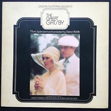 Nelson Riddle's Oscar-winning THE GREAT GATSBY soundtrack LP 1974 Redford Farrow