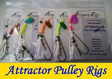 ATTRACTOR PULLEY SEA FISHING RIGS SHORE & BOAT TRACES HAND TIED COD BASS UK