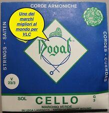 CORDA DOGAL MARCHIO VERDE SMOOTH BRONZE WOUND SOL (III) PER VIOLONCELLO