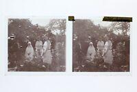 Francia Comunione Foto Stereo T2L2n Placca Da Lente Vintage