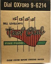 ~Vintage Sports-Horse Racing Bar-Restaurant-Matchbook Cover