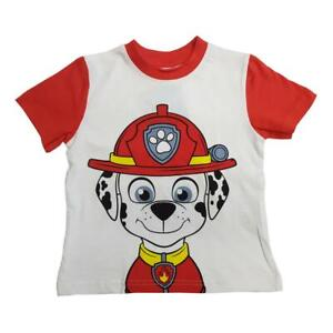 Paw Patrol Children Boy Top Marshall T-Shirt Sizes Age 2 to 7 years Gift NEW