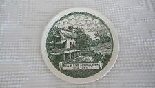 "Circa 1952 Souvenir Plate MILL AT LIME SPRINGS, IOWA, OLD TOWN  6 1/2"""