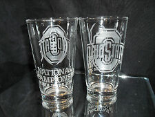 2015 COLLEGE FOOTBALL PLAYOFF CONTENDER OHIO STATE BUCKEYES ETCHED 2 GLASS PINTS