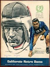 College Football Program Notre Dame 1967 California Cal