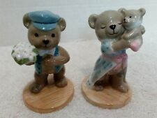 Bing & Grondahls Teddy Bear Figurines Victor & Victoria 2000