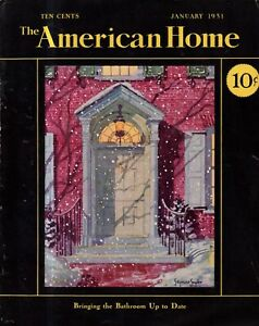 1931 American Home January - Houses in Darien CT; Germantown PA, Utica NY