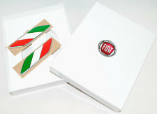 Fiat 500 Italian Flag Wing Badges Emblem New and Genuine 50901681