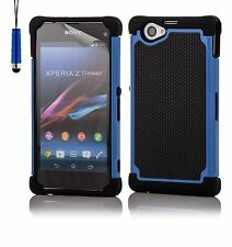 32nd Dual-Layer Shockproof Case Cover Sony Xperia Z1 + Screen Protector & Stylus
