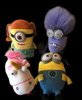 Despicable Me 2 Purple Evil Minion Minions Unicorn Plush Soft Toy Whitehouse X4