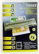 100 x A4 TEXET Laminator Laminating Pouches Sheets Sleeves Pockets Tiger
