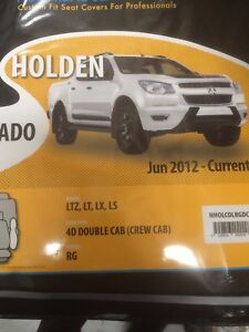 Holden Colorado RG Neoprene Seat Covers and Dash Mat Pack Suit Dual Cab 2012 -16