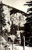 Vintage 1920's Cottage on Red Lake, Lacu Rosu, Romania RPPC Real Photo Postcard