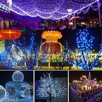 100 200 LED Christmas Wedding Xmas Party Decor Outdoor Fairy String Light Lamp