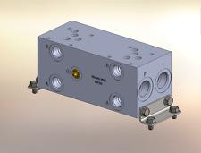 Hydraulic manifold A5P25S // AD05P025S // BM-ASP05S5-02-1/Z // BAO5GPT02SDUAAAA
