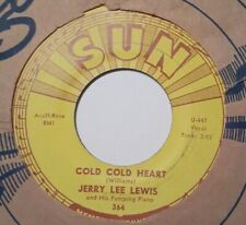 ROCKABILLY JERRY LEE LEWIS Cold Cold Heart / It Won't  Happen With Me SUN VG+