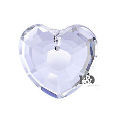 Clear Love Heart Suncatcher Glass Crystal Lamp Prisms Hanging Drop Pendants 38mm