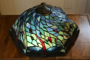 Dale Tiffany Stained Glass Lamp Shade Dragonfly Gradient!!