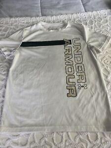 Boys White Underarmour T-shirt Size M