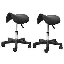 HOMCOM Saddle Stool Massage Stools Beauty Salon Manicure Swivel Chair