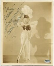 CARMEN MIRANDA vintage 8x10 sepia photo SIGNED (inscribed) SGC Authenticated