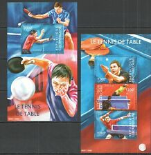 CA320 2013 CENTRAL AFRICA SPORT TABLE TENNIS PING-PONG CHAMPIONS KB+BL MNH