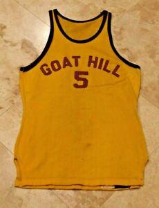 Rare 1930's-40's MacGregor MENS BASKETBALL Jersey-GOAT HILL ALLIANCE OHIO