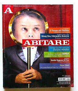 Abitare n. 495 2009 Rivista Architettura Design Gabriele Basilico Roma Enzo Mari
