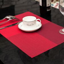 4X PVC Placemats Dining Tableware Pad Mat Heat Insulation Bowl Matt AuSellerFast