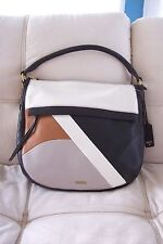 FOSSIL PEBBLED LEATHER X BODY HANDBAG PURSE NWT