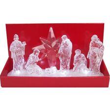 31cm Led Cristal Hielo Escena natividad PESEBRE Iluminación Decoración Mesa de