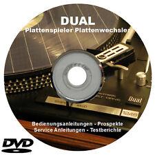 DUAL Plattenspieler und Plattenwechsler Anleitungen Manual Prospekte auf DVD