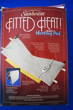 SUNBEAM FITTED HEAT!- MOIST HEATING PAD - Shaped to fit many places on your body