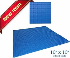 "Genuine LEGO Minifigure + 1 Blue 10"" x 10"" compatible building base plate"