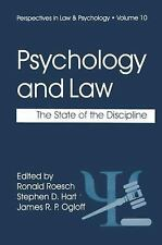 Perspectives in Law and Psychology: Psychology and the Law : The State of the D…