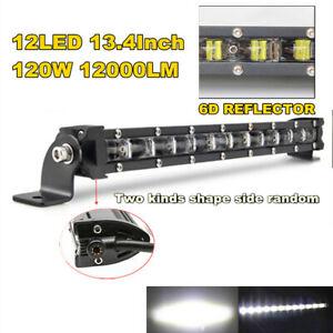 1x34cm 120W Flood LED Work Light Bar Post Car SUV Off Road Roof Driving Fog Lamp