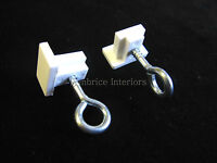 SWISH FURNIGLYDE CURTAIN TRACK END STOPS x2 Caravan motorhome parts end hook eye