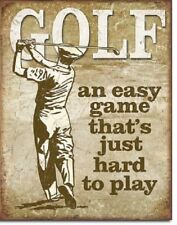 Golf Easy Game Hard To Play Funny Retro Restaurant Bar Sports Metal Tin Sign New