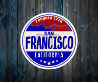 "San Francisco California Vinyl Sticker Decal 3"" x 3"""