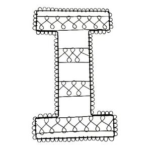 POTTERY BARN TEEN Wall Picture Holder Black Wire Letter I