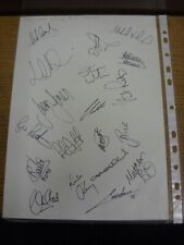 2001 Autographed A4 Page: Swansea City - Approx 19 Signatures Upon A Plain White