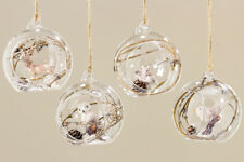 Baumschmuck Kugel Glas klar mit Waldtieren 8 cm 4er-Set (758910 Christbaumkugeln