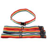 4x Sangle Bagage Valise Voyage avec Boucle Reglable 190x5cm multicolore S1B7