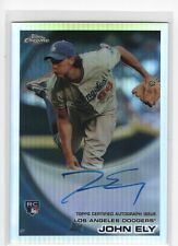 John Ely 2010 Topps Chrome RC Rookie Refractor Auto Autograph /499, Dodgers